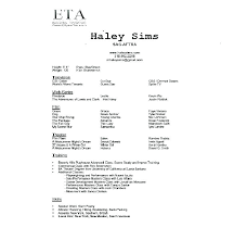 Resume Template For Actors Free Actors Resume Templates Acting