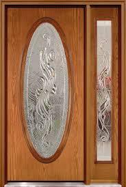oval fiberglass door with right sidelite