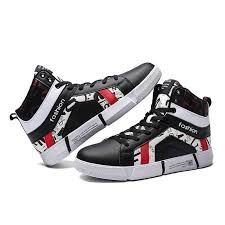 Male Sport Shoes Men's Breathable Comfortable <b>High Top</b> ...