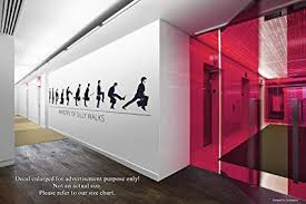 Office wall ideas Diy Image Unavailable Decoist Amazoncom Ministry Of Silly Walks Wall Decals Stickers Decorative