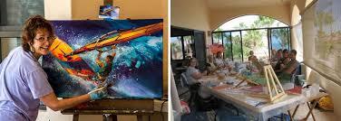 acrylic painting class by jennifer bowman