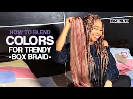 blend two colors of braiding hair