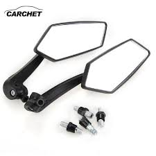 carchet 2pcs universal motorcycle side mirror rear view mirror