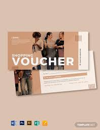 Shopping Spree Gift Certificate Template Shopping Spree Voucher Template Word Psd Apple Pages