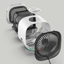 Quạt Điều Hòa Hơi Nước Mini - Điều Hòa Không Khí Để Bàn Làm Việc - Siêu Mát  Có led Air Cooler -Mẫu mới nhất 2020 -dc4166