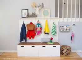 Mudroom Bench With Coat Rack Ikea Hack DIY Mudroom Benches The Mombot 64