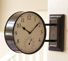 Side View Clock, Bronze finish ...