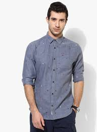 Tommy Hilfiger India Size Chart Tommy Hilfiger Blue Printed Regular Fit Casual Shirt