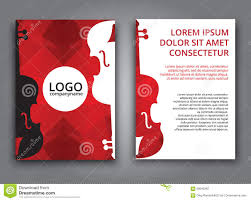 Music Brochure Template Music Polygonal Brochure Stock Vector Illustration Of 8