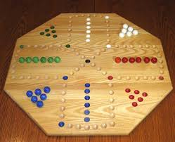 Wooden Aggravation Board Game Solid Wood Doublesided 100marble solid wood Aggravation game board 41