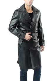 bgsd men s xander classic leather long trench coat 3
