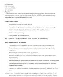 8 Sample Medical Technologist Resumes Sample Templates