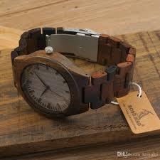 wooden watches ebony wood band ese miyota 2035 movement size