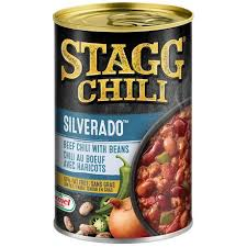chili can. Plain Can Stagg Chili Silverado Canned Beef With Beans And Can