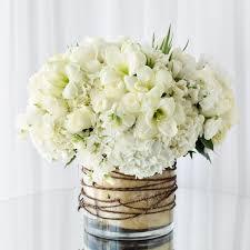 florist in los angeles flower delivery gardeny arrangement of white hydrangea white amaryllis