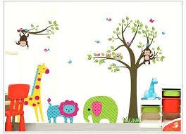 jungle wall stickers monkey owl tree erfly jungle wall stickers animals wall decals jungle tree wall jungle wall stickers