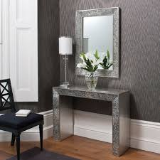 silver hall table. Living Room Console Table Beautidul Silver Modern With Mirror Accent Home Color Flowers Lamps Hall L