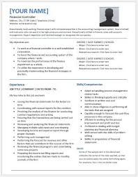 cv financial controller financial controller resume templates for ms word resume templates