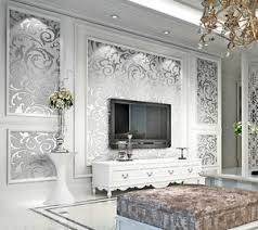 image is loading 33ft 10m 3d non woven textured art deco  on art deco living room wallpaper with 33ft 10m 3d non woven textured art deco living room silver gray