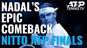 Rafa Nadal Saves Match Point in EPIC Comeback vs Medvedev | Nitto ATP  Finals 2019 - YouTube