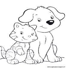 Coloring Pages Cat Dog Coloring Pages Stunning Cartoonblecat