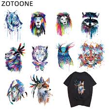 ZOTOONE <b>Animal Tiger</b> Lion <b>Dog</b> Iron on Transfers <b>Patches</b> ...