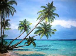 palm tree paradise original acrylic painting 18x24 68 00 via