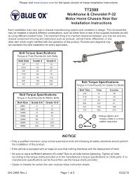 Stover Nut Torque Chart Rv Supplies Rv Accessories Rv Parts Camper Parts 5th