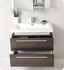 modern bathroom furniture cabinets. Fresca Medio Gray Oak Modern Bathroom Vanity And Medicine Cabinet Chic Vanities Cabinets Furniture  