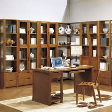 office furniture desk vintage chocolate varnished. Furniture. Classic Corner Bookshelf Ideas Come With Varnish Wood Shelf Drawer And Grid- Office Furniture Desk Vintage Chocolate Varnished A