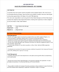 Personal Manager Job Description 13 Sales Manager Job Description Free Sample Example Format