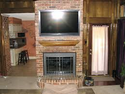 Mounting Tv Into Brick Fireplace Above Studs Over Ideas. Install Tv Above  Brick Fireplace Over Wiring Stone.