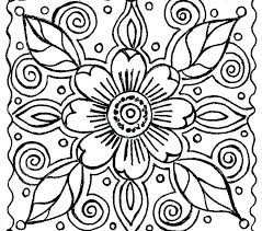 Colouring In Patterns Flowers Free Printable Small Flower Coloring