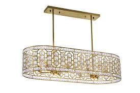 8 light chandelier with champagne finish