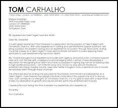 Sample Cover Letter For Recruitment Agency Talent Agent Cover Letter Sample Cover Letter Templates