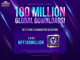 Special 100 Million Download Celebration Coupon Marvel