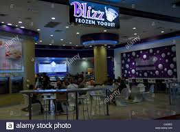 Blizz Yogurt Blizz Frozen Yogurt Healthy Stock Photo 35350210 Alamy