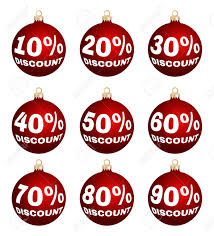 Set Of Nine Vector Discount Price Signs Christmas Balls Isolated