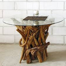 round dining table reclaimed teak root