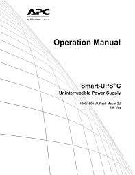apc smart ups c 1000va 2u lcd 120v