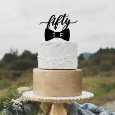 Birthday Cake Topper For Men 50th Birthday Cake Topper Happy Etsy