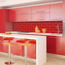 Kitchen Tiles For Splashbacks Tiled Effect Kitchen Splashback Panels Red Tiles Enhance Your