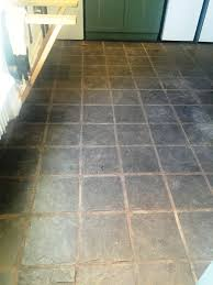 Stone Kitchen Floor Tiles Slate Kitchen Floor Stripped Cleaned And Sealed Lochwinnoch