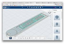 123d Design Measure Making A Customizable Key Tag Using 123d Design Online 3d