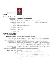 Standard Resume Sample Eliolera Com