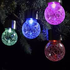 decorative solar lighting. 1XOutdoor Solar Powered Led Hanging Lamp, Decorative Colorful Ball Globe Lamps, Cracks Light, Tree Lights-in Lamps From Lights Lighting