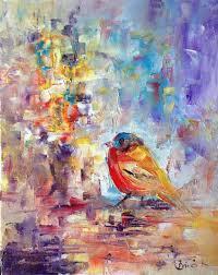 saatchi art artist konrad biro painting bird world