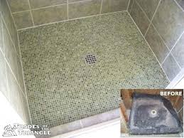 custom tileable shower pan sofa custom tile shower pan installation drain repair leaking no intended for shower pan