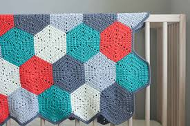 Hexagon Crochet Pattern Stunning Ravelry Happy Hexagons Afghan Pattern By Jess Coppom