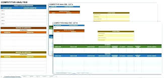Competitor Analysis Template Xls Marketing Competitive Analysis Template Overview National